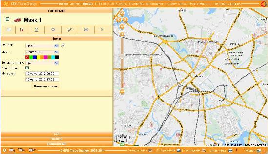 Главная страница картографического сервиса маяка (закладки) АвтоФон S-Маяк 5.6