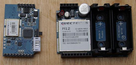 Автомобильный поисковый маяк (закладка) GPS Маркер M110 со снятой крышкой корпуса