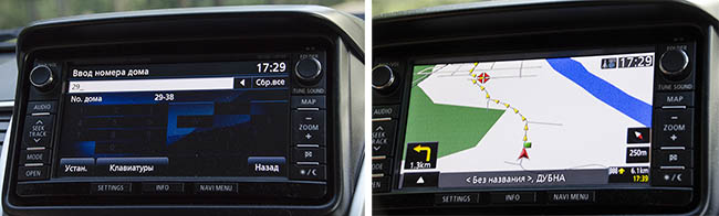 Бортовая навигация и мультимедиа в Mitsubishi Pajero Sport