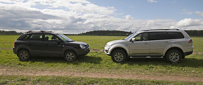 Багажник Mitsubishi Pajero Sport и hyundai Tucson