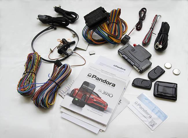 Комплект поставки охранной системы Pandora DXL 3910.