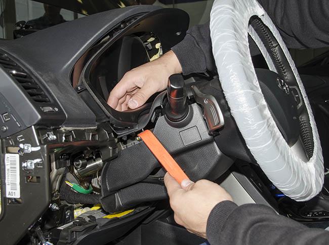 Снятие облицовки панели приборов на Hyundai i40