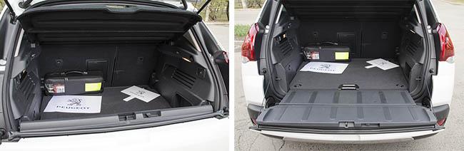 Багажник обновленного Peugeot 3008