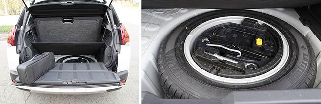 Запасное колесо обновленного Peugeot 3008