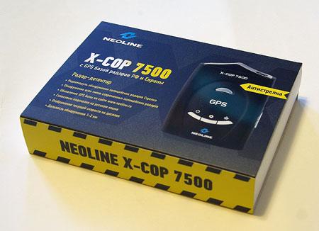 Коробка радар детектора (антирадара) со встроенным GPS приемником Neoline X-COP 7500