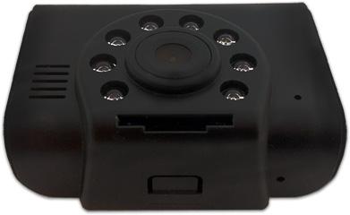 HighScreen BlackBox HD-Mini – автомобильный HD-видеорегистратор, вокруг камеры хорошо видны инфракрасные светодиоды ночной подсветки