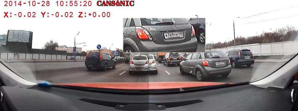 Тест регистратора CANSONIC 700 DUO PRO: две камеры и 280 градусов обзора