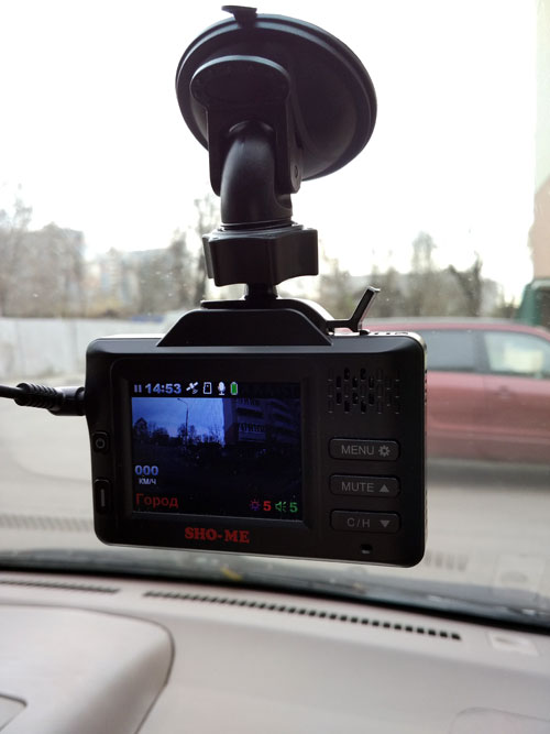 SHO-ME Combo SMART – автомобильный видеорегистратор с радар-детектором и ГЛОНАСС, тест