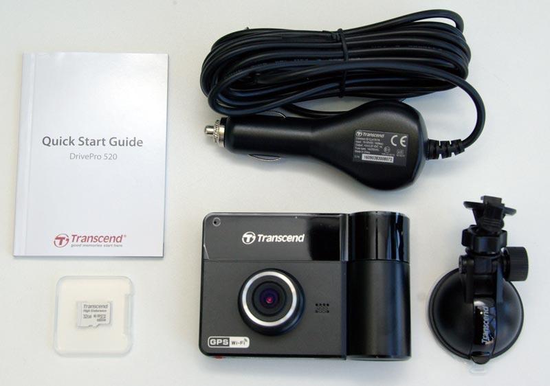 Transcend DrivePro 520 – автомобильный двухканальный видеорегистратор с GPS и Wi Fi, тест