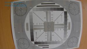 Запись испытательной таблицы сделанная видеорегистратором DEFENDER Car Vision 5110 GPS Full HD