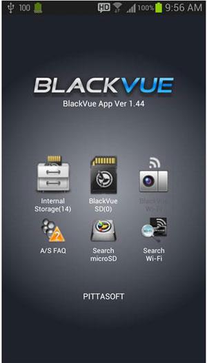 На Google Play лежит мобильное приложение для работы с видеорегистратором BlackVue Wi-Fi DR500GW-HD  по протоколу  Wi-Fi