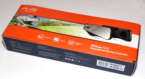 Комплект поставки регистратора Mio MiVue R25.