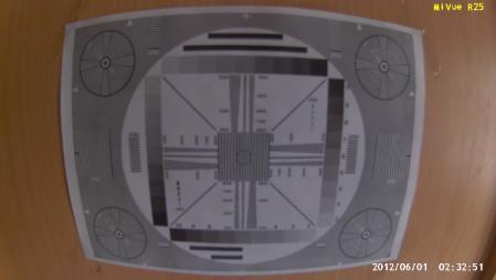 Запись испытательной таблицы сделанная видеорегистратором Mio MiVue R25.