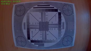 Запись испытательной таблицы сделанная видеорегистратором SeeMax DVR RG520.