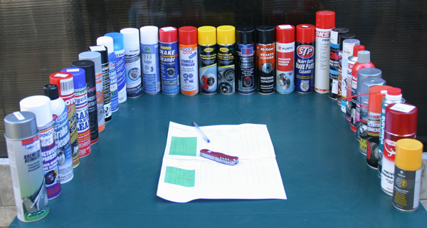 Тест очистителей тормозов 2016