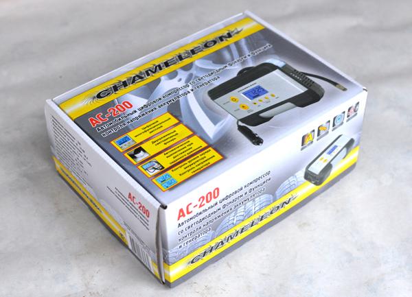CHAMELEON AC-200 – автомобильный компрессор с цифровым манометром, тест