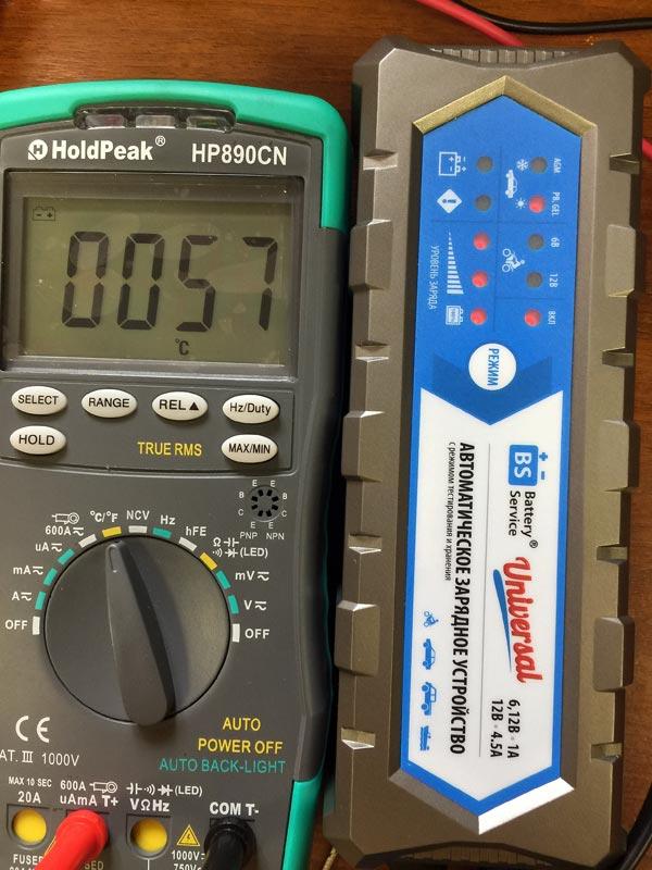 Battery Service Universal PL-C004P – зарядное устройство для автомобильных аккумуляторов, тест