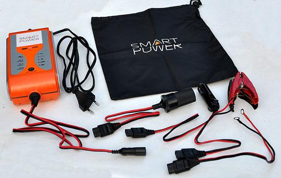 Комплектация  устройства для зарядки автомобильных аккумуляторов Smart Power SP-8N