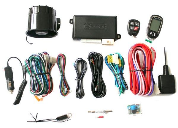 ALLIGATOR C-500 – автомобильная охранная система с функцией автоматического / дистанционного запуска двигателя, состав комплекса