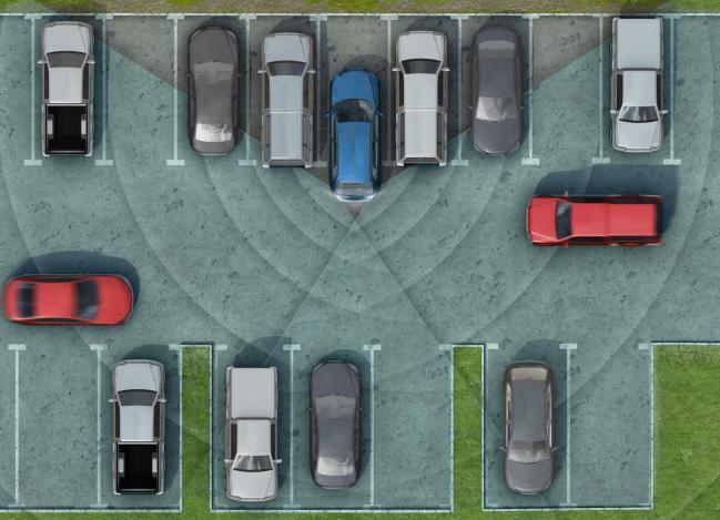 парковка (елочкой)