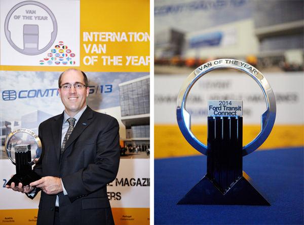 Новый Ford Transit Connect удостоен награды «Международный фургон 2014 года».
