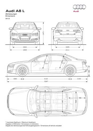 кузова Audi A8 Long