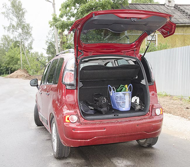 ситроен с3 пикассо багажник