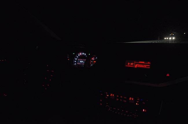 ночью фото вид на из машины дорогу