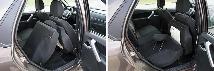 Datsun on-DO задние кресла схема складывания