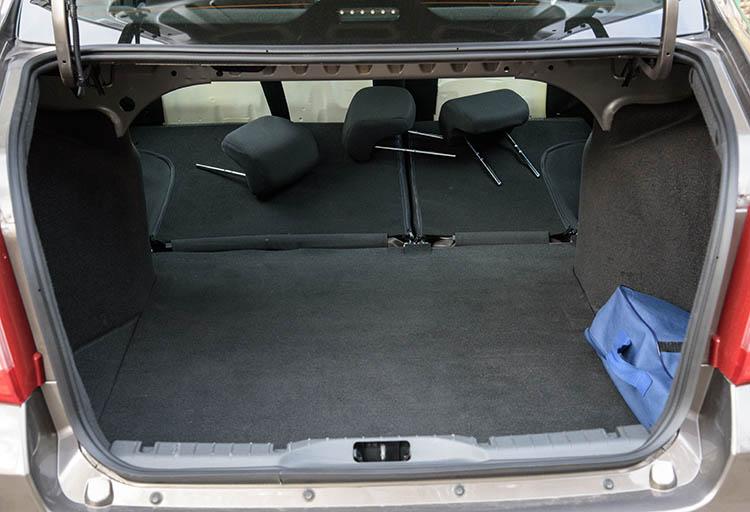 Datsun on-DO багажник со сложенным диваном