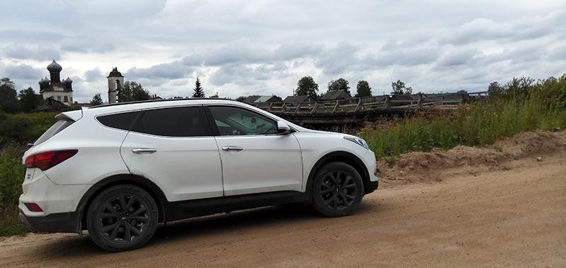 Путешествие на Кенозеро в HYUNDAI Santa Fe тест драйв
