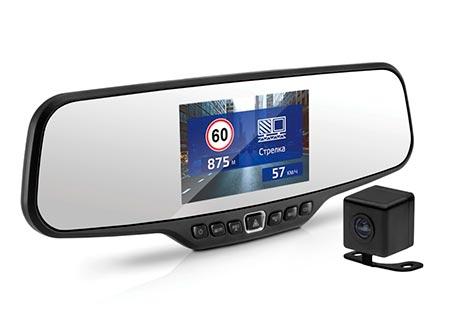 Neoline G-Tech X27 Dual – видеорегистратор в форме зеркала заднего вида с GPS информером и парковочной камерой, тест