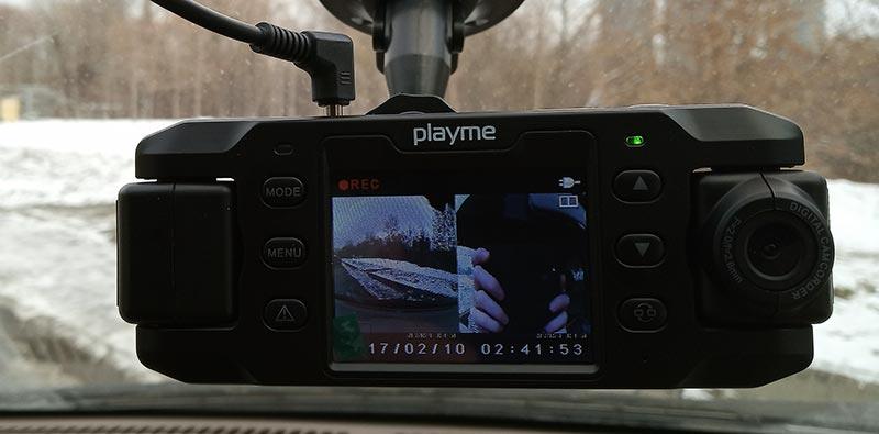 Playme NIO – автомобильный двухканальный видеорегистратор, тест