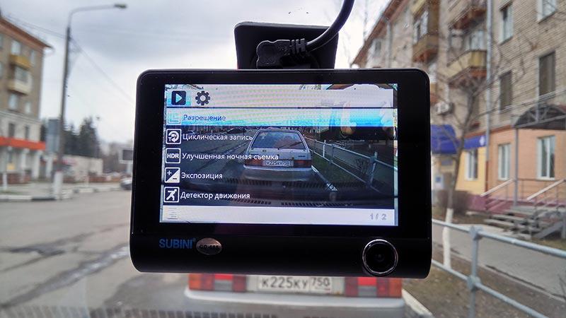 Subini GD-685 – автомобильный двухканальный видеорегистратор с парковочной камерой, тест