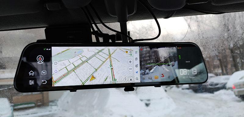 Trendvision aMirror 12 Android FUTURE PRO – навигатор с регистратором в салонном зеркале, тест