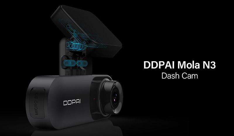 DDPai Dash Cam Mola N3 1600P HD GPS – компаньон в любых путешествиях