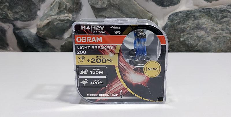 Osram Night Breaker 200 галогенных ламп повышенной яркости, обзор