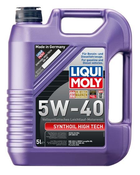 Liqui Moly Synthoil High Tech 5W-40 – моторное масло на основе PAO-синтетики